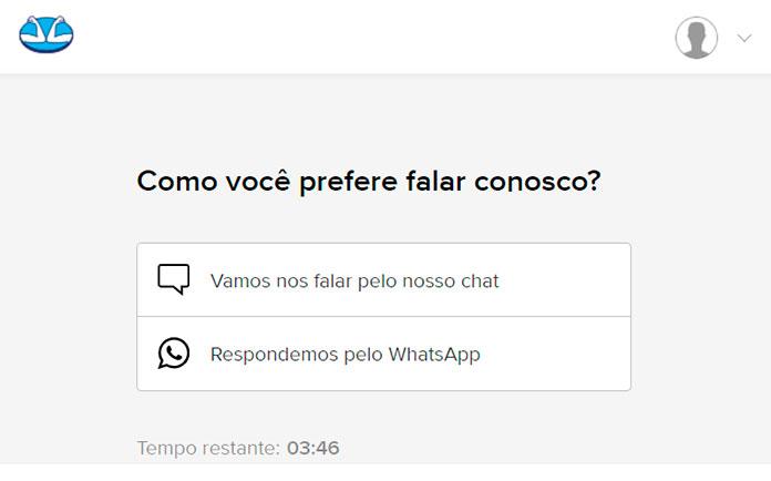 Chat e WhatsApp do Mercado Pago